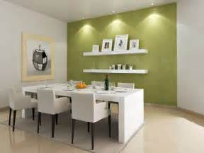 Apartment Dining Room by Modern Green Paint Colors For Dining Room With White Table