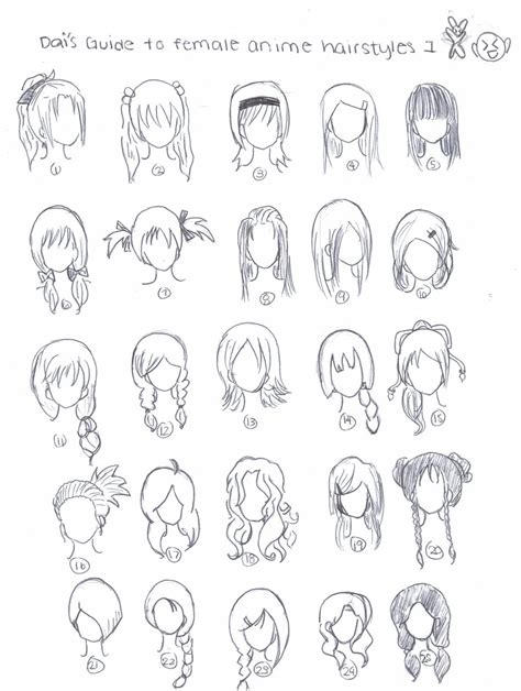 anime hairstyles to draw anime hairstyles by xdaixchibix on deviantart