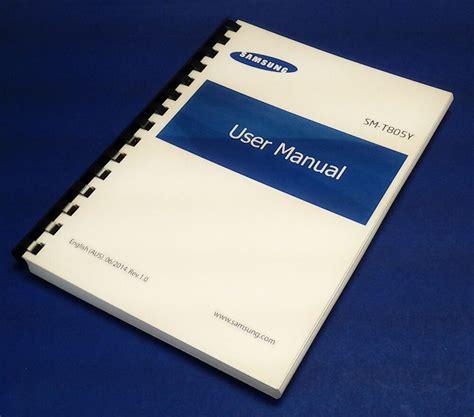 Samsung Galaxy S10 Manual by Samsung Galaxy Tab S 10 5 Australian Model Sm T805y User Manual Ebay