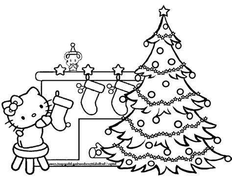 hello kitty christmas tree coloring page coloring pages christmas tree color pages christmas tree