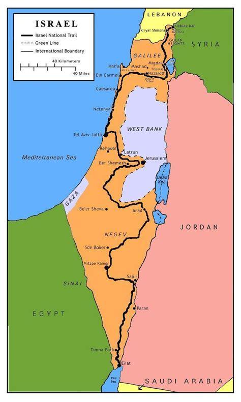 map israel map שביל ישראל israel trail