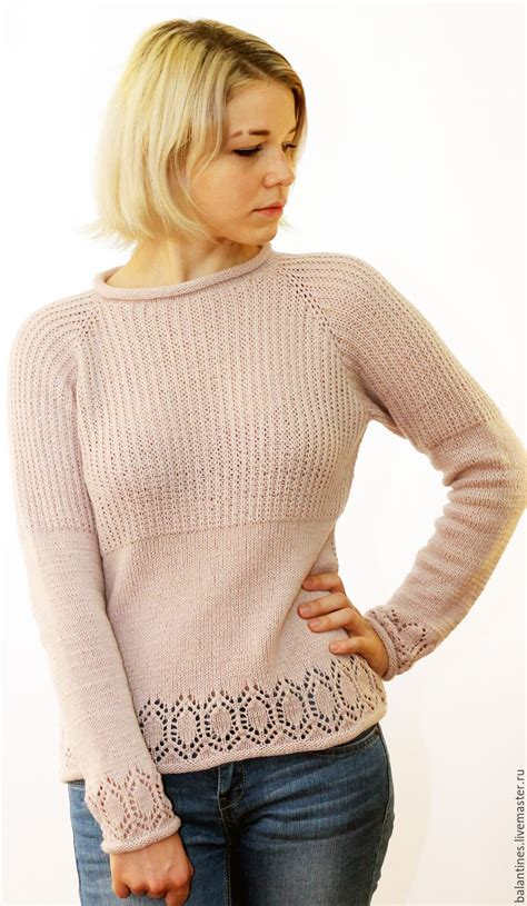 Handmade Knitwear - knitted sweater with detachable collar charm shop