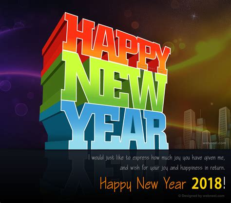 65 happy new year greeting card image