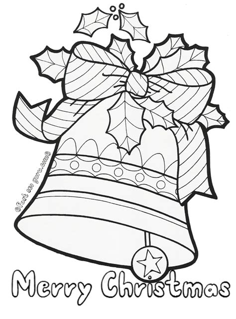 free printable coloring pages of christmas bells christmas bells free colouring pages