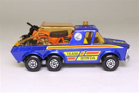 matchbox honda matchbox superkings k 6 4 motorcycle transporter team