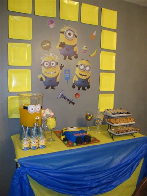 Minion Table Decorations by Just A Simple Dessert Table Decor Minion Theme