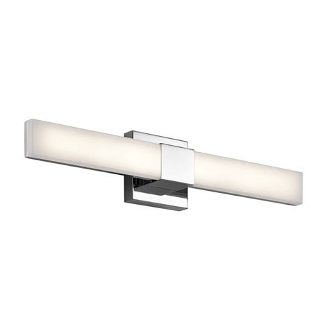 Led Bathroom Vanity Light Shop Elan 2 Light Neltev Chrome Led Bathroom Vanity Light At Lowes
