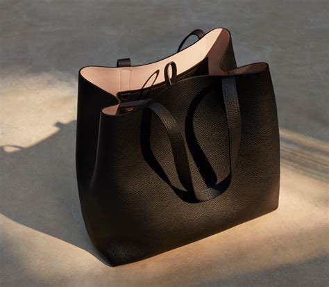 Tennis Media Leather Tote by Totes Cuyana