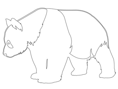 Panda Outline Drawing by Panda Outline Coloring Page Free Printable Coloring Pages