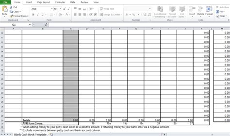 blank cash book template for business excel tmp