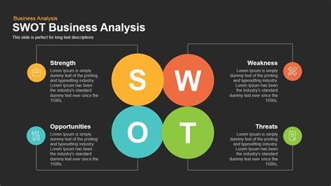 template for swot analysis powerpoint swot business analysis powerpoint keynote template