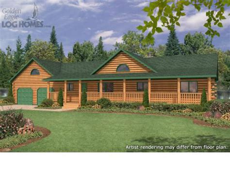 log cabin style homes ranch style log cabin floor plans