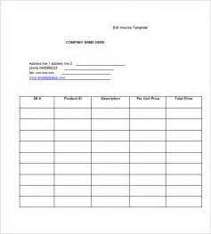 billing invoice template 6 free printable word excel