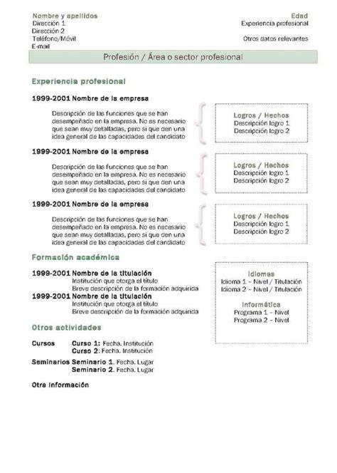 Modelo De Curriculum Vitae Tradicional Chileno Curr 237 Culum Vitae Modelo 2 Tienda De Curriculum Vitae