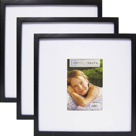 10 x 7 matted frame mainstays 13 quot x 13 quot matted to 7 quot x 5 quot linear frame black