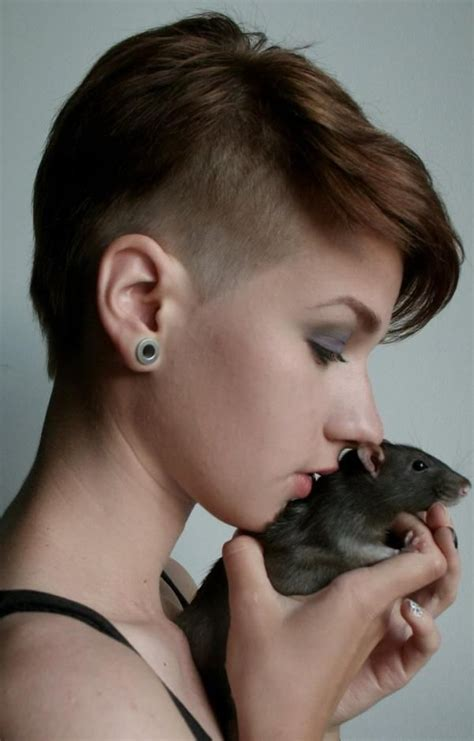 haircuts for rat faced people short hairstyles haircuts girl with rat photoshoot