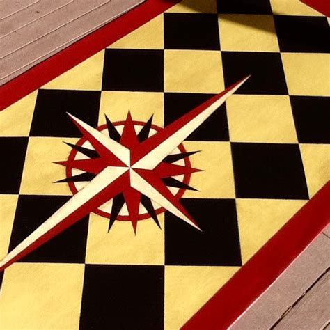 painted stenciled canvas rugs and home decor by