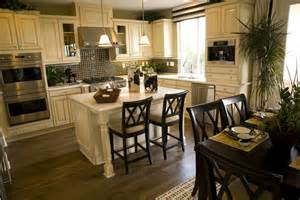 kitchen dining island 39 fabulous eat in custom kitchen designs