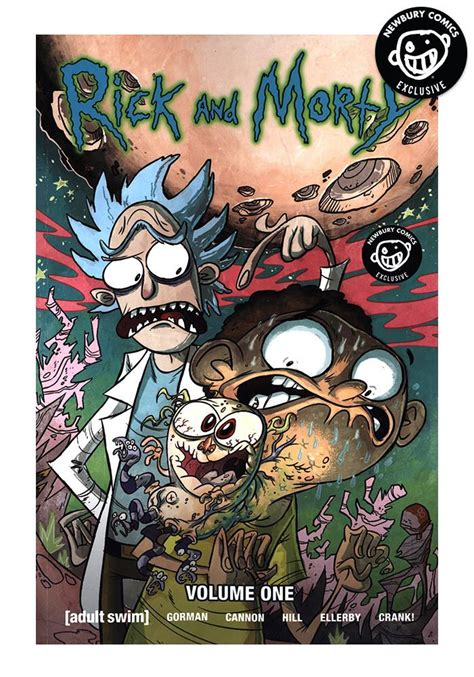 rick and morty volume 1 oni press rick morty vol 1 exclusive variant graphic