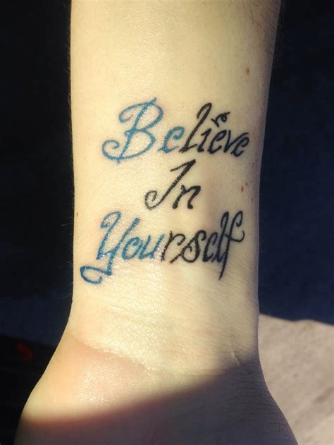 can you get a tattoo at 15 believe in yourself tattoos