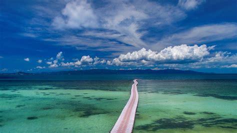 pontoon bridge stretching   distance koh phangan