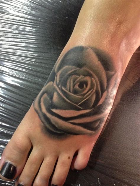 black rose foot tattoo 15 foot tattoos for