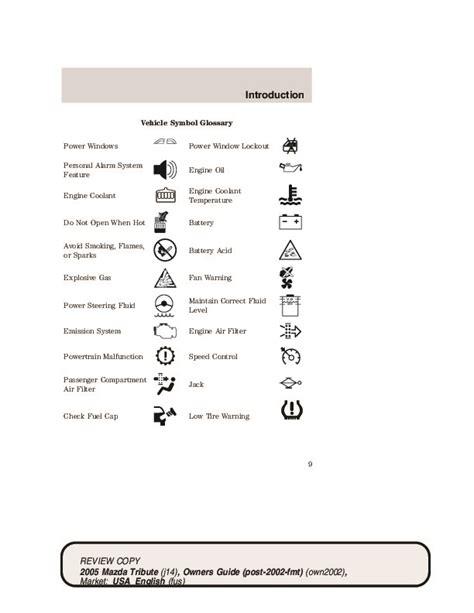 2005 Mazda Tribute Owners Manual