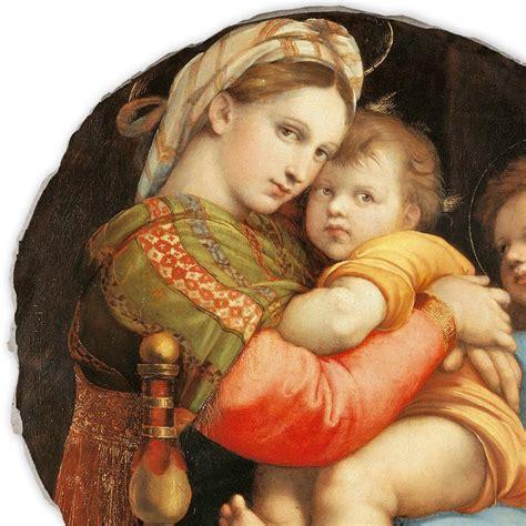 madonna della sedia madonna della seggiola by raphael painted fresco