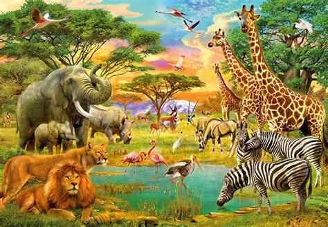 00154 african animals wall mural 8 part wizard genius