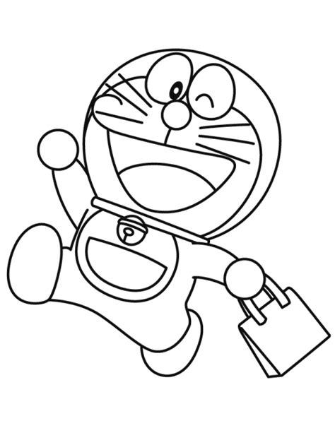 20 sketsa gambar mewarnai kartun doraemon terbaru si gambar