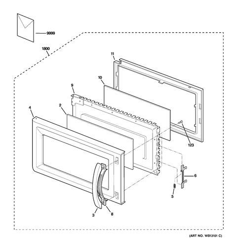ge microwave parts diagram ge microwave parts model jvm1640bj01 sears partsdirect