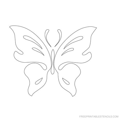 pics for gt butterfly stencils designs