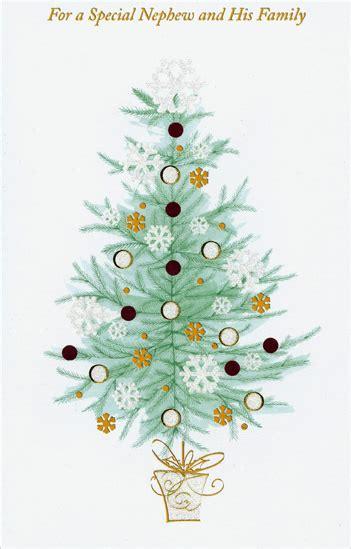 gold glitter tree nephew christmas card  freedom