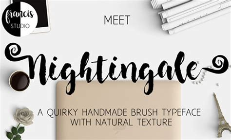 dafont selima paint brush fonts to use in your designs for spring and summer