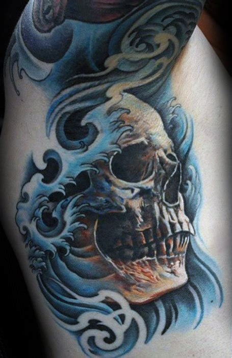 40 japanese skull tattoo designs for men cool cranium