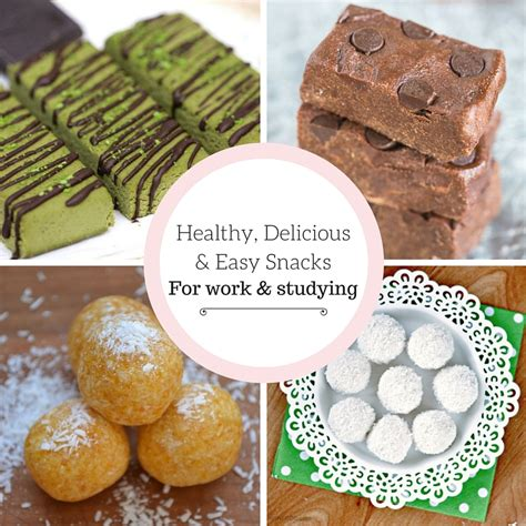 6 healthy delicious easy snacks for work studying