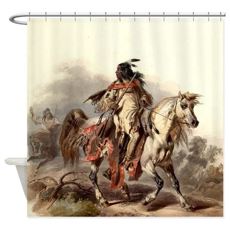 native american curtains blackfoot native american warrior shower curtain by admin