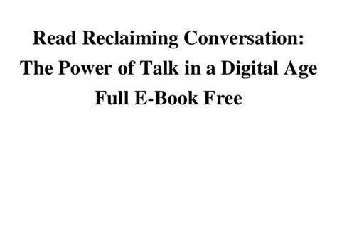 birthright 5 secrets to reclaim the power of you books read reclaiming conversation the power of talk in a