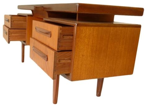 Mid Century Teak Desk Floating Top Design By G Plan Teak Computer Desk