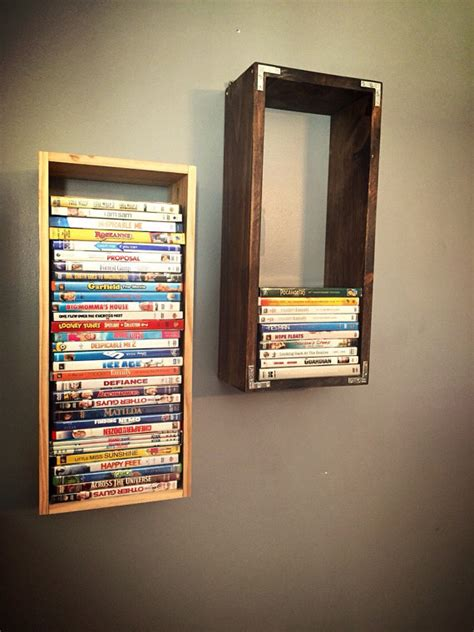 diy cd storage dvd wooden wallmount display case holder