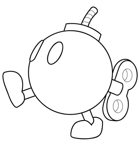 mario kart coloring pages mario kart bomb omb coloring page embroidary