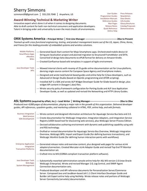 Technical Writer Resume Objective by Skill Resume Free Sle Junior Technical Writer Resume