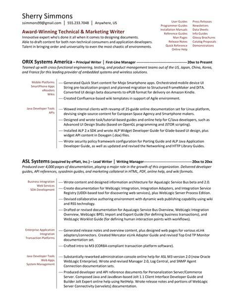 free resume writer skill resume free sle junior technical writer resume