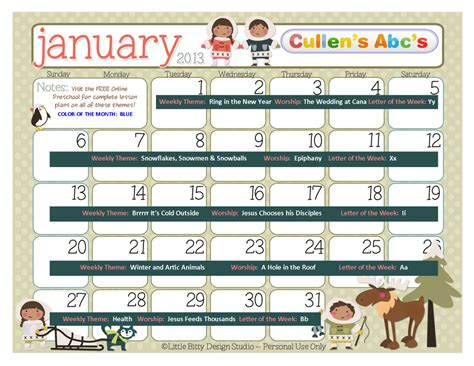theme for education week 2013 preschool calendars christian children activities