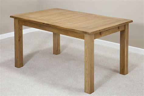 original rustic solid oak 4ft 7 quot x 3ft extending dining table