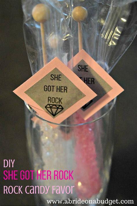 diy bridal shower favor tags diy quot she got rock quot rock favor a on a budget