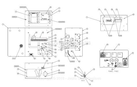 generator electrical distribution panel engine diagram