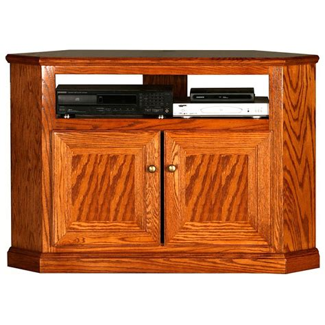 Oak Tv Cabinet With Doors Classic Oak 46 Quot Corner Tv Cabinet 1 Shelf 2 Doors Dcg Stores