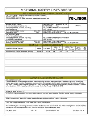 msds sections canada re mov canada msds fill online printable fillable