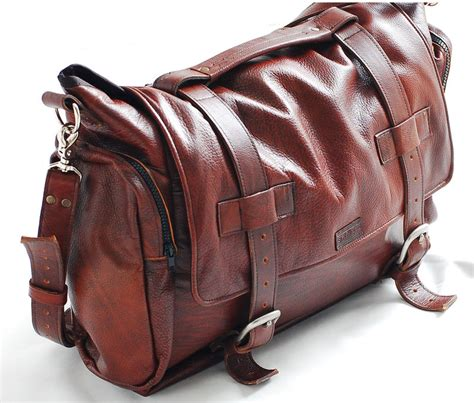 Handcrafted Leather Bag - handmade leather messenger bag handmade 22 inch leather